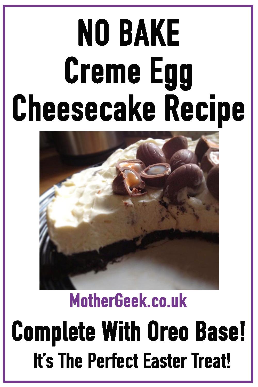 no bake creme egg cheesecake recipe - pin