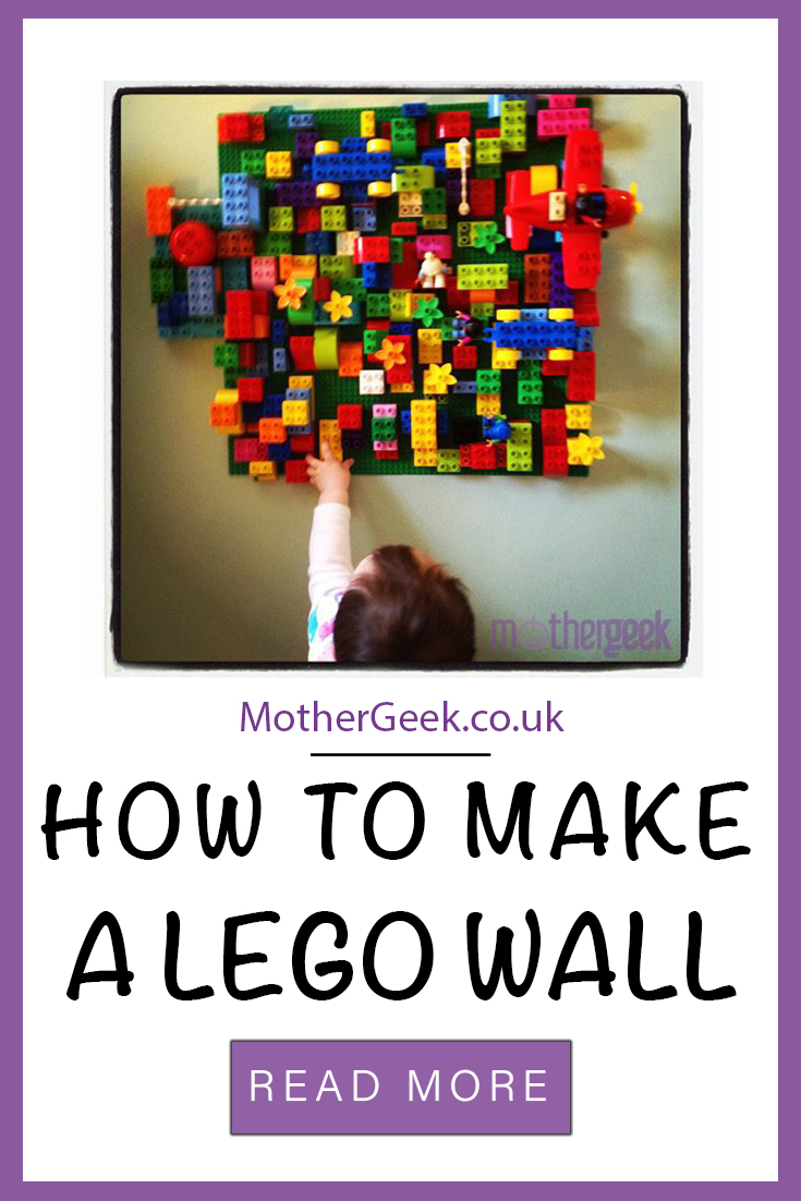 How to make a LEGO wall - find out what we used and how we made a lego wall for our playroom!