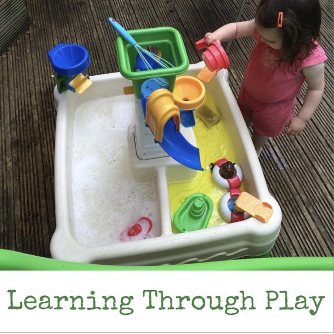 free ideas for Summer fun - clean the garden toys