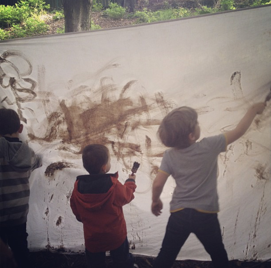 free ideas for Summer - mud painting