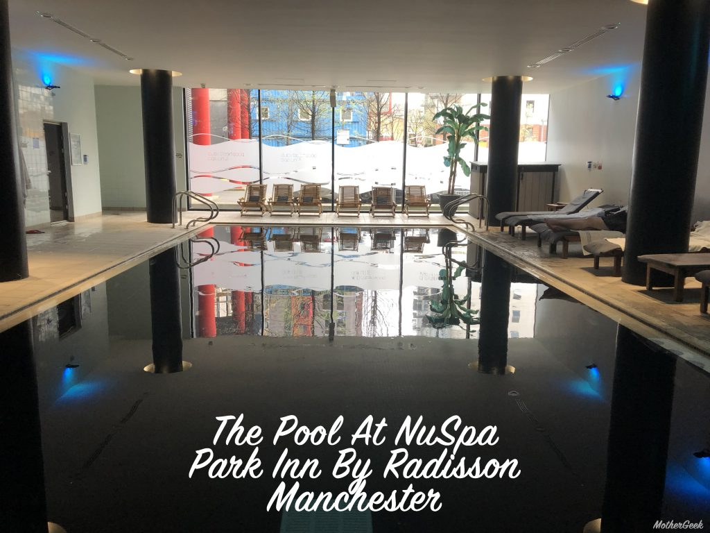 The pool at NuSpa Manchester