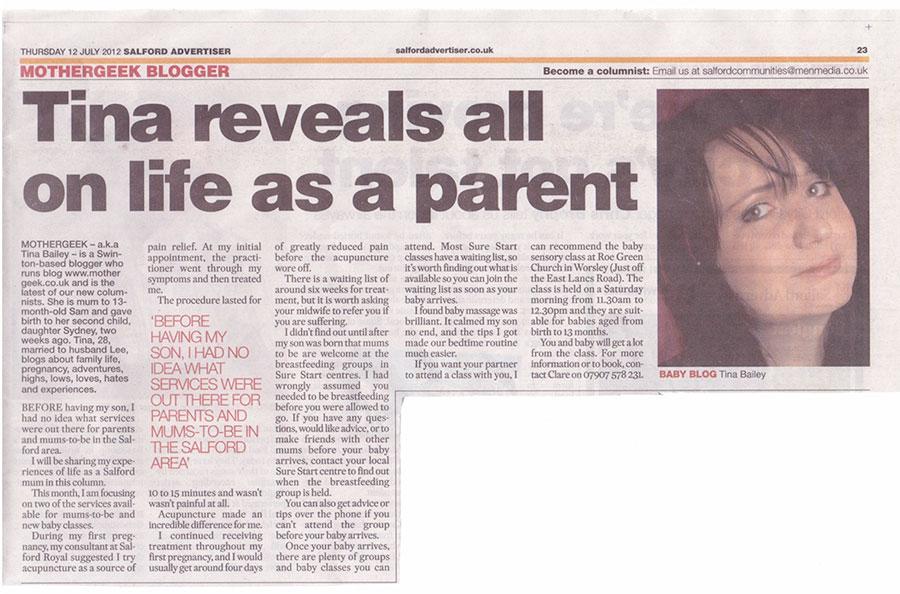 MotherGeek In Print 12th July 2012
