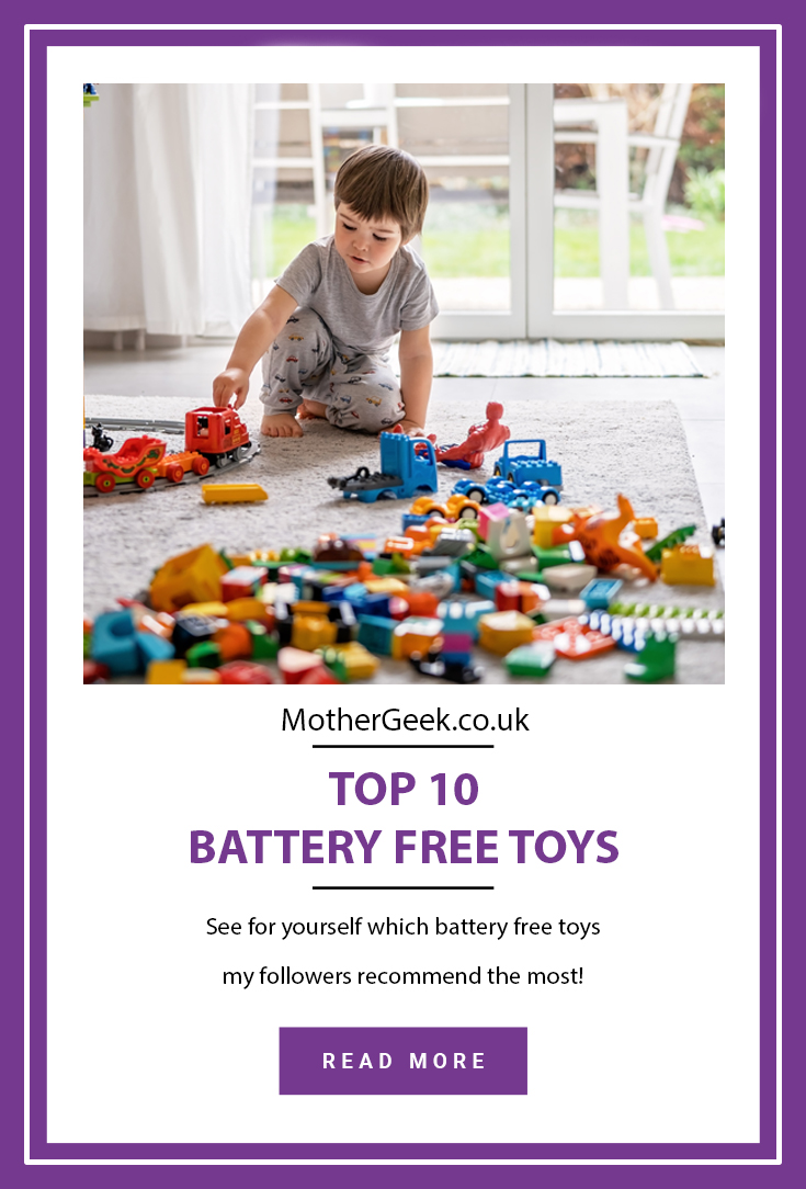 pinterest pin for top 10 battery free toys