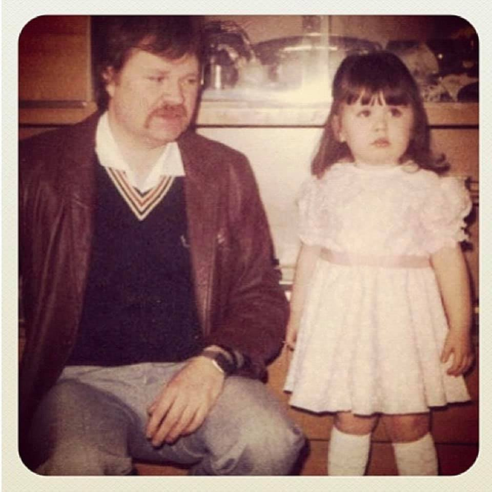 ten years on - bereavement. My dad and I in 1986