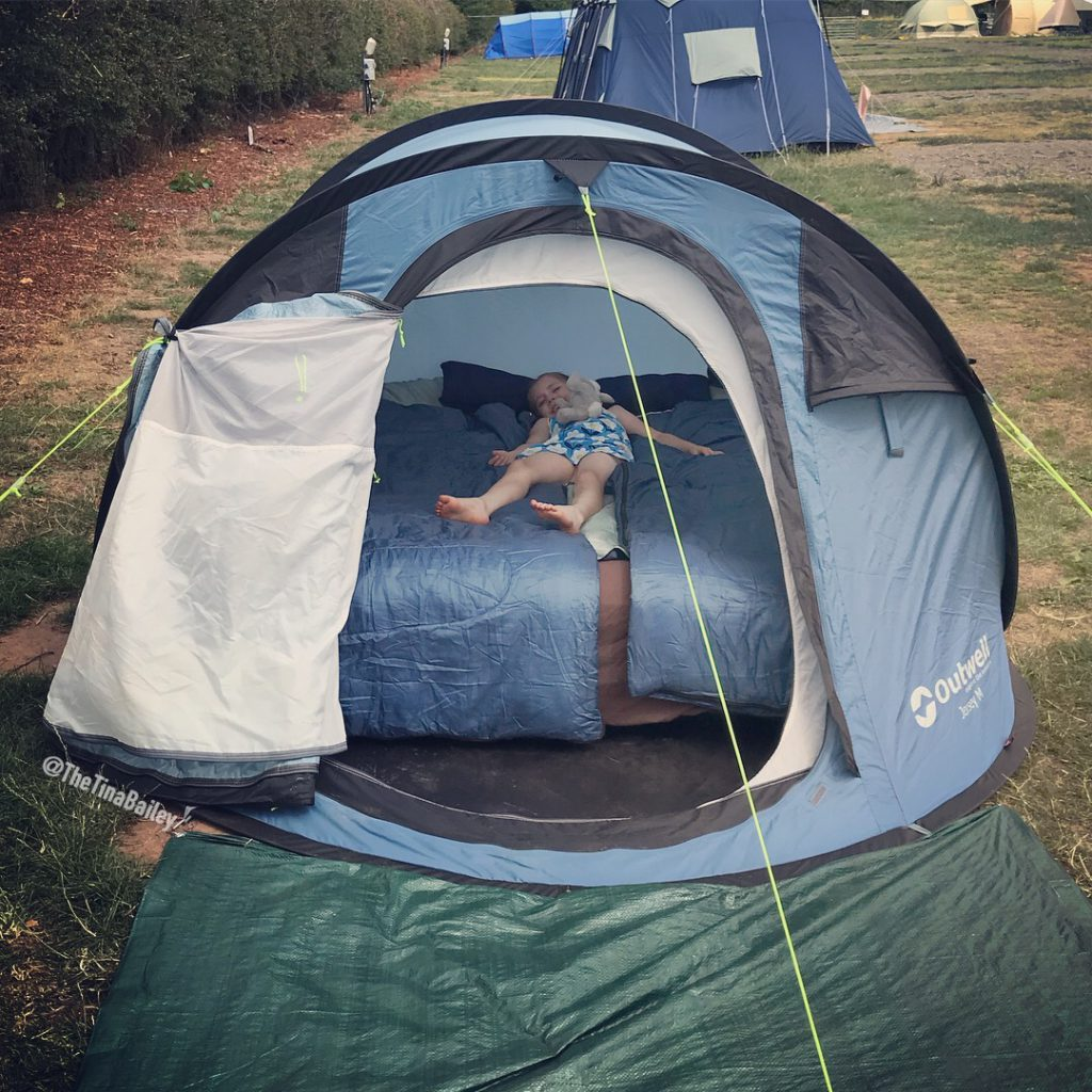 Syd lay in the tent - we went camping