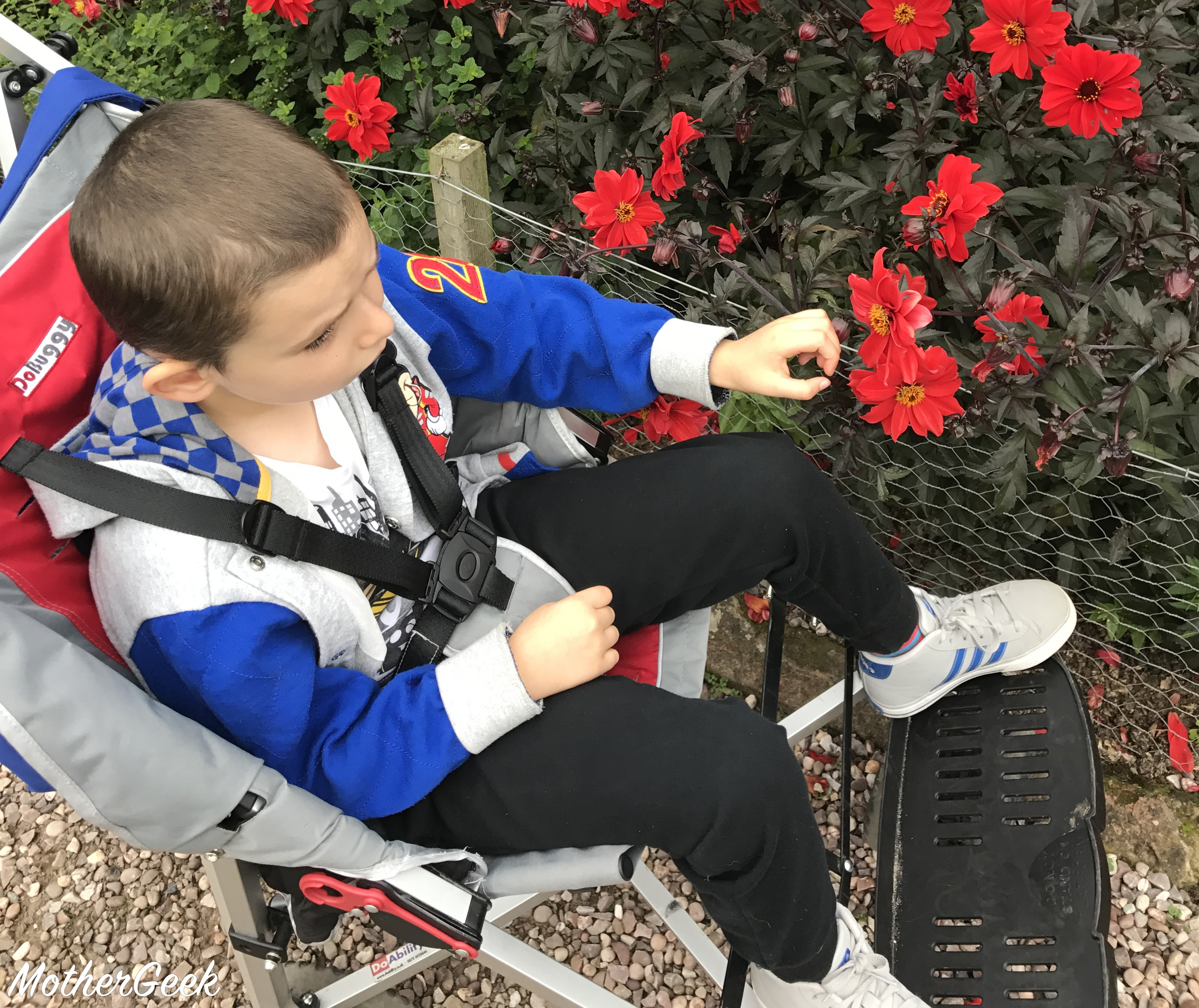 getting around with a special needs child - Sam in his buggy