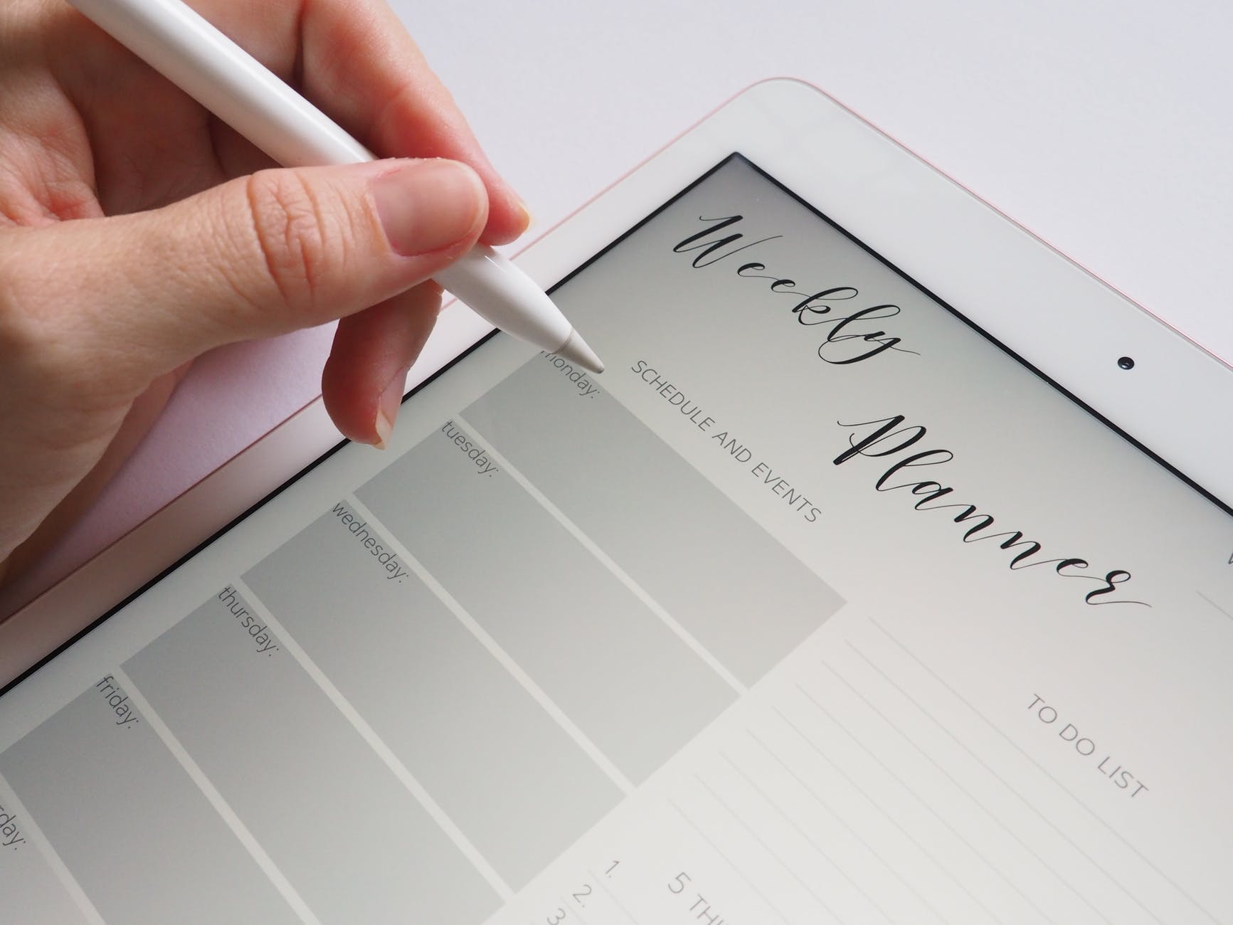 time saving tips for students - weekly planner iPad app