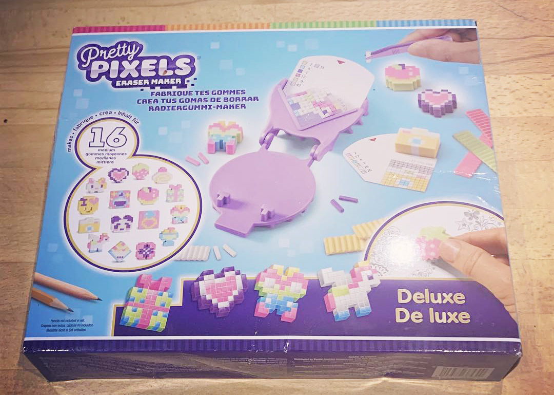 Deluxe Pretty Pixels Eraser Maker box