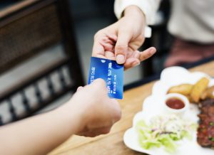 the importance of colour branding - a blue credit card