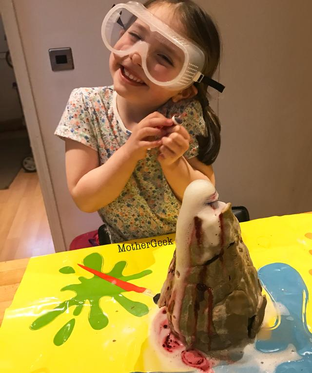 Easy Experiments For Kids For Science Week - erupting volcano experiment