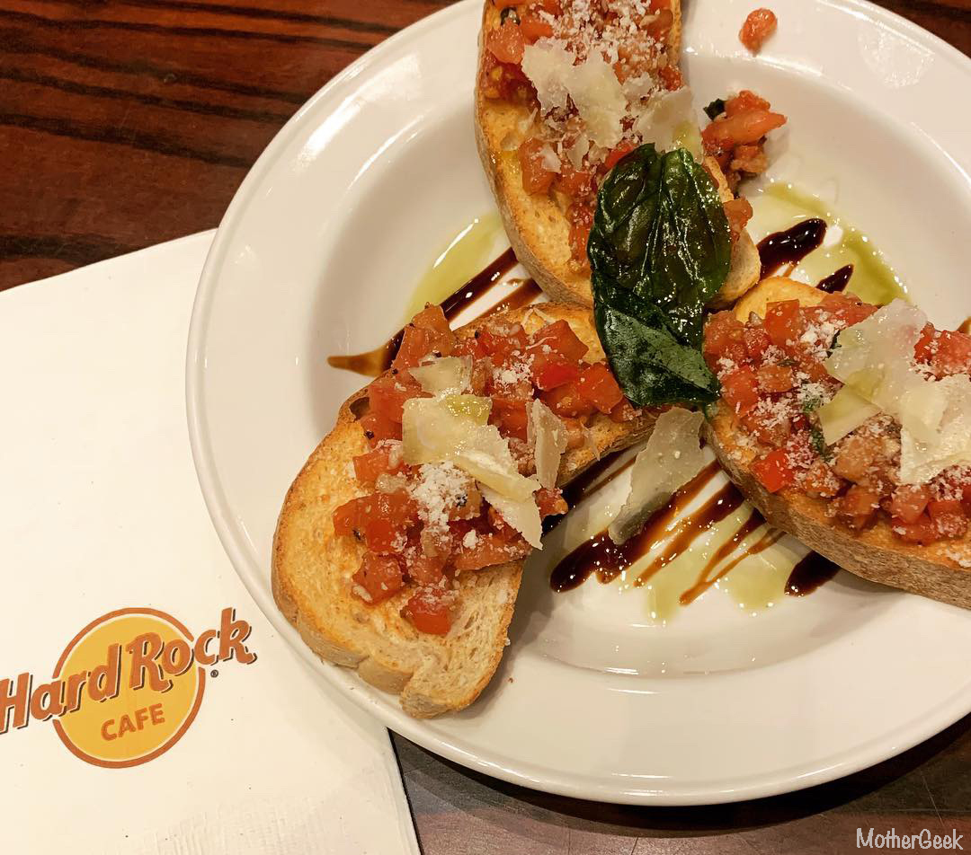 bruschettaMother's Day Menu At Hard Rock Cafe Manchester