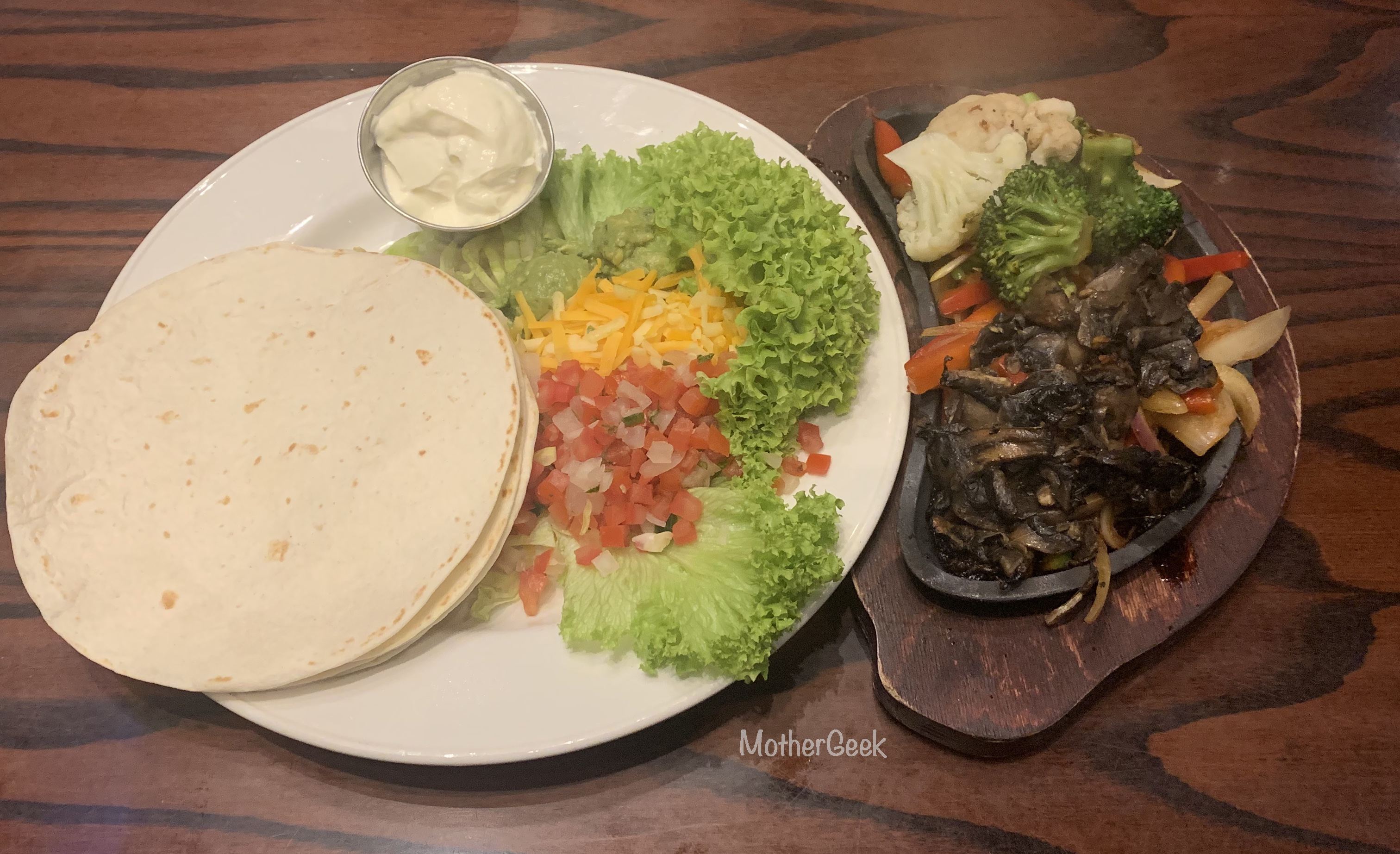 Mother's Day Menu At Hard Rock Cafe Manchester Veggie Fajitas