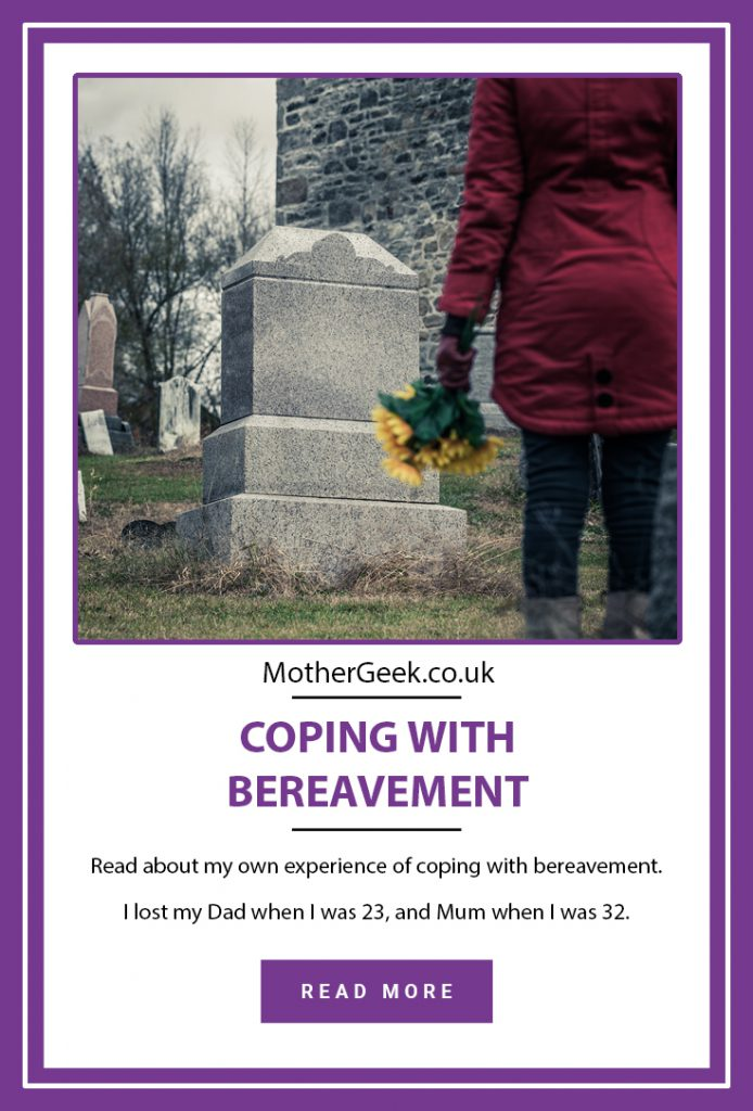 pinterest pin showing woman at graveside,