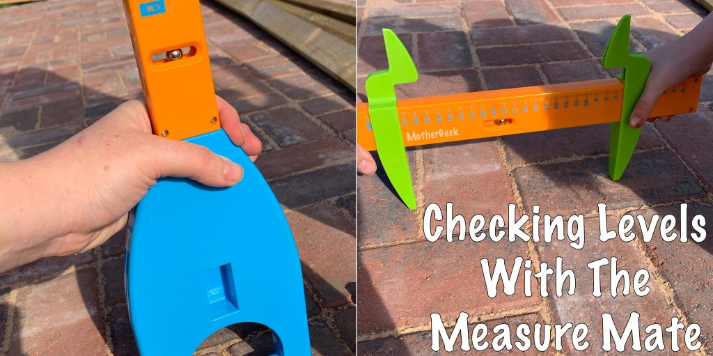 checking levels with the measure mate - for our measure mate review
