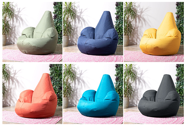 Beanbag Armchair Review - 6 of the Oria Beanbags - sage, navy, mustard, terracotta, teal and slate grey