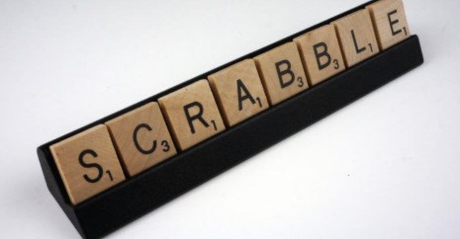 "scrabble letters spelling out ""scrabble"""