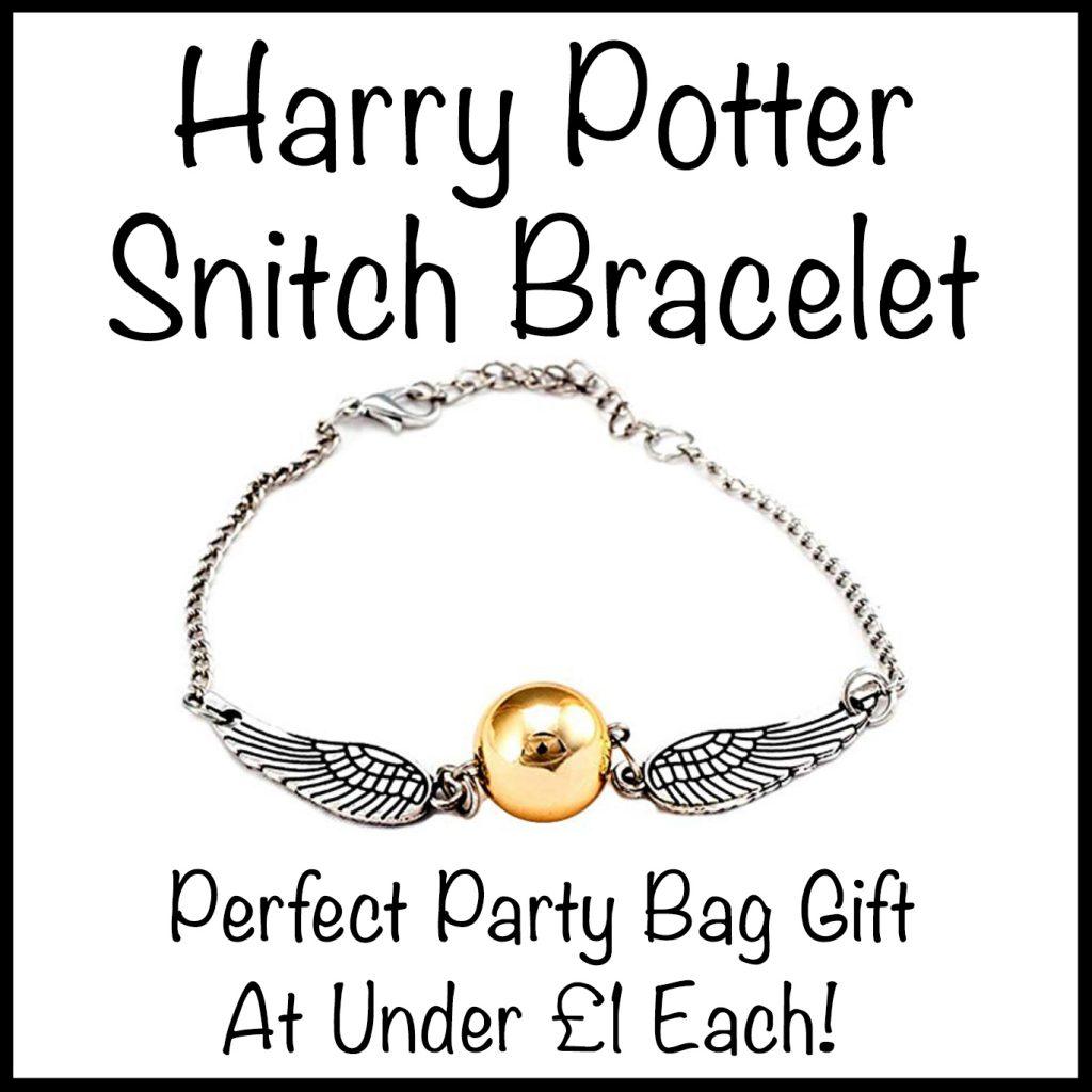 Harry Potter Snitch Bracelet - DIY Harry Potter party bag ideas