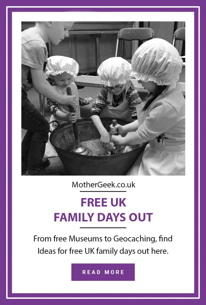 free UK family days out - victorian wash day - kids washing clothes