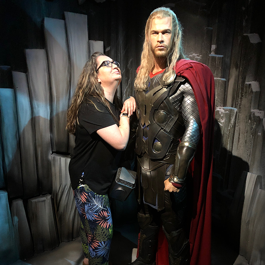 Me and THOR in Madame Tussauds Blackpool