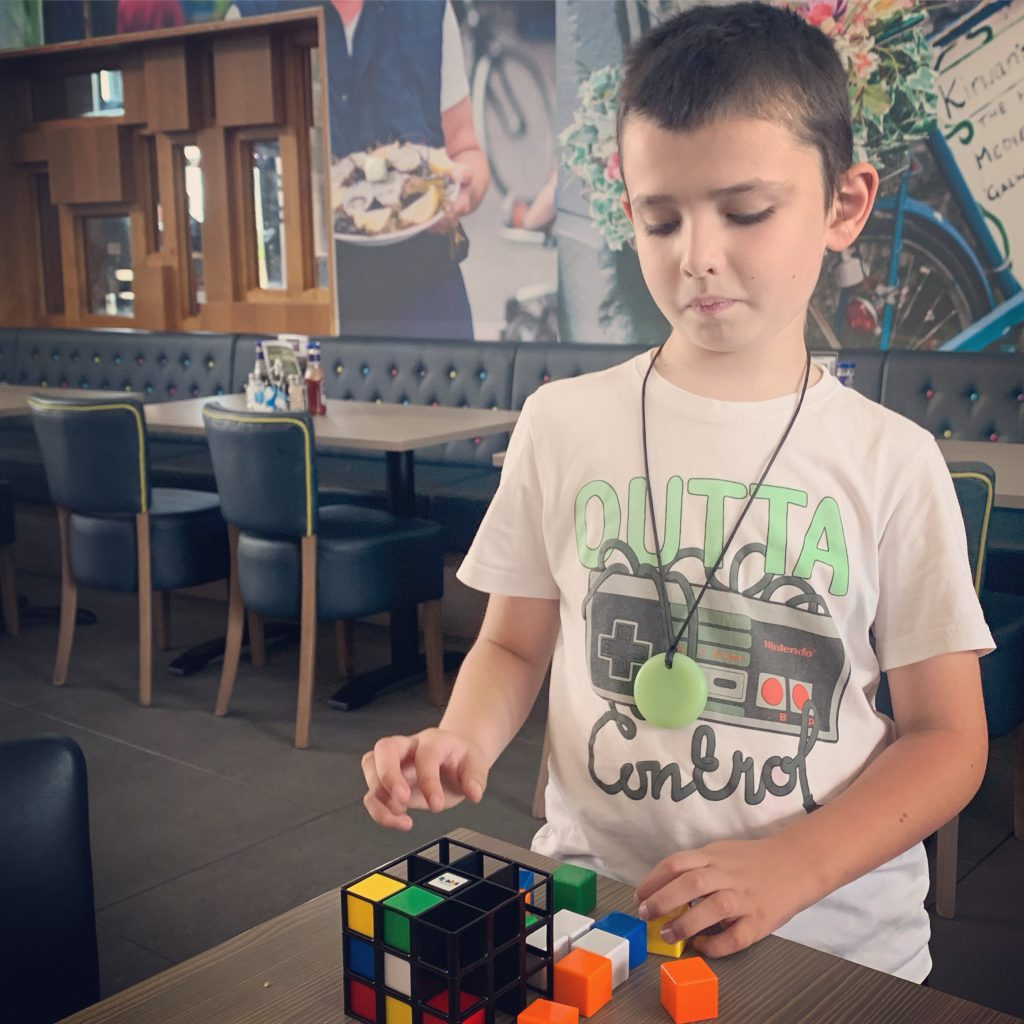 Rubiks 2019 Range - Rubik's Cage being played by an 8 year old boy.