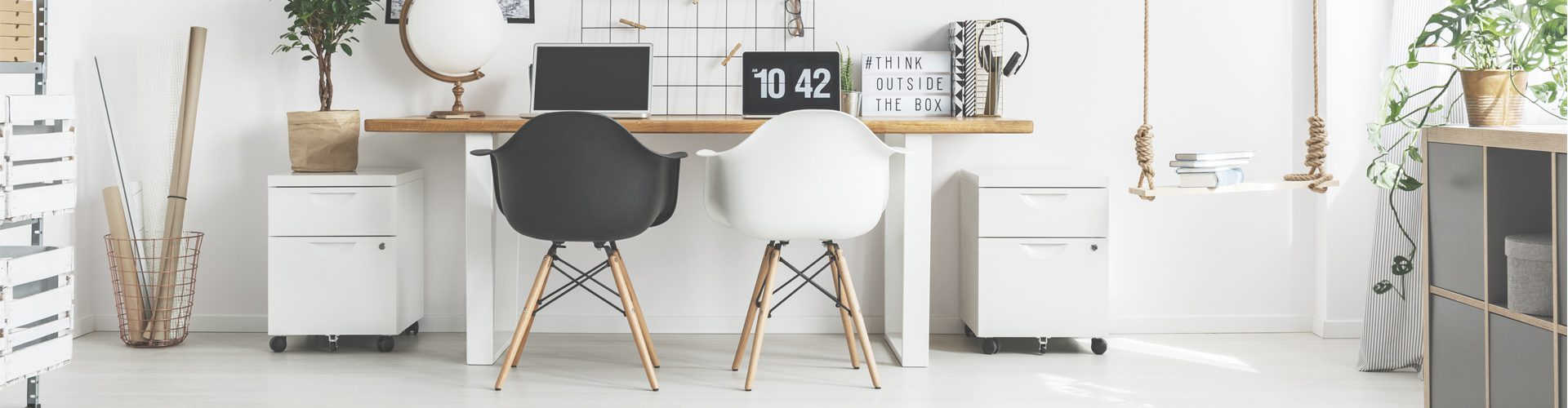 getting organised when working from home - tidy home office