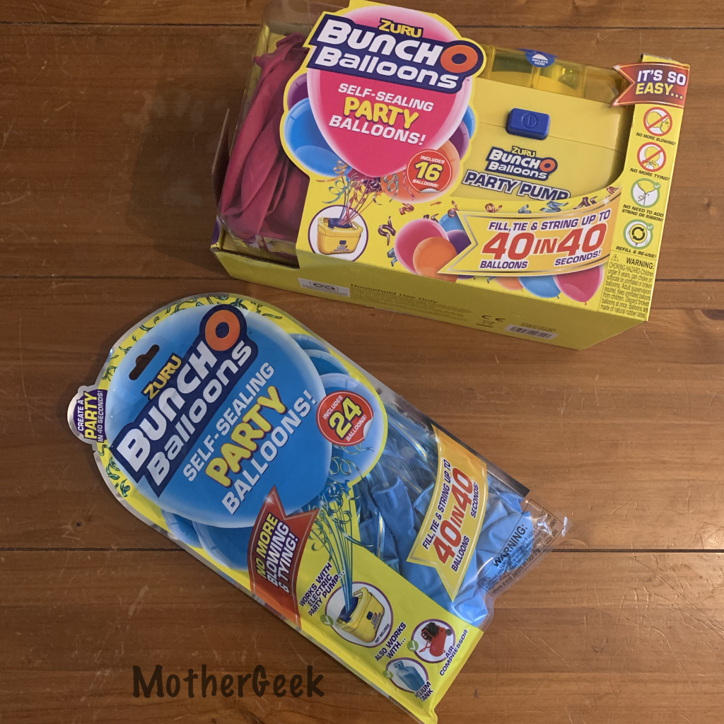 Bunch o Balloons Party Pump packaging