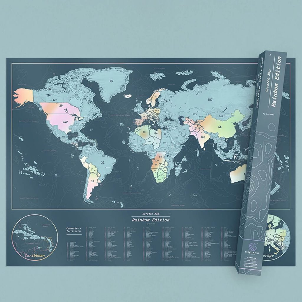 scratch map - quirky valentines gift ideas