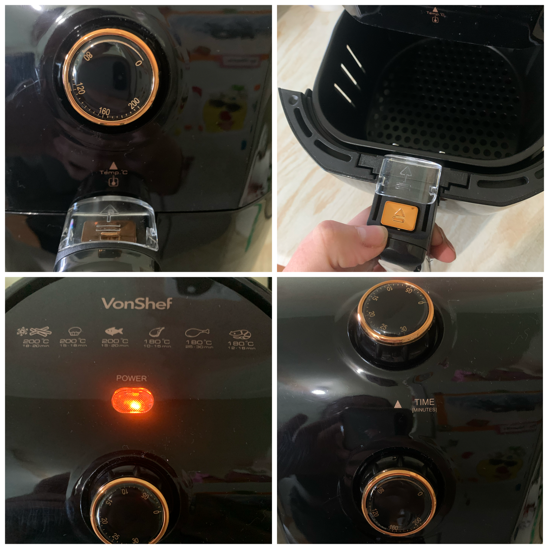 vonhaus air fryer review photos of it up close