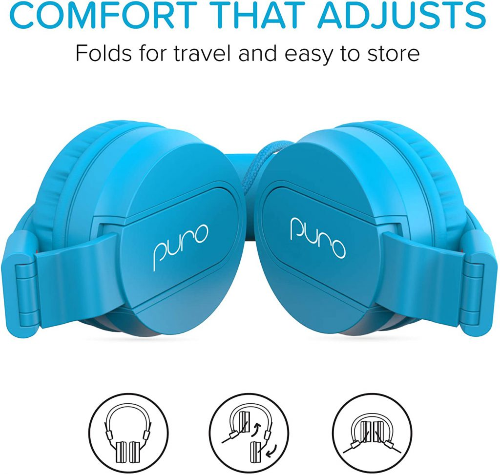 PuroBasic Headphones For Kids - folded