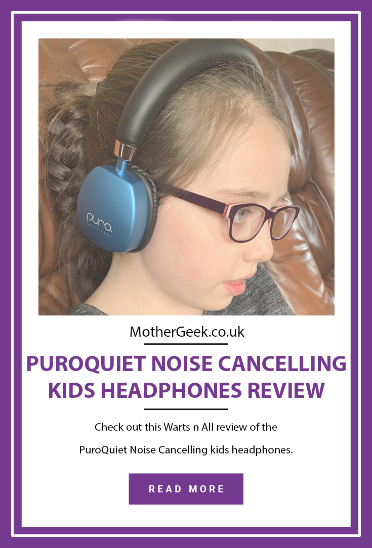 pinterest pin for the PuroQuiet Headphones Review