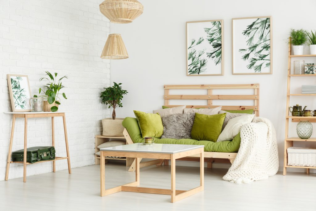 updating your lounge for each season - green accessories for spring