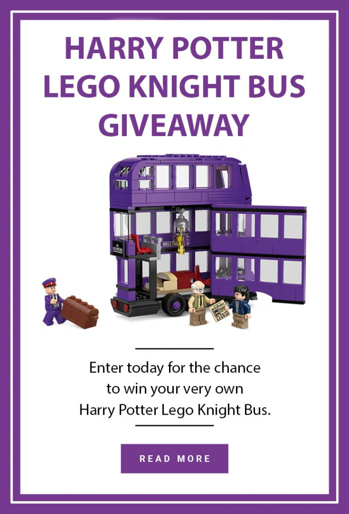 Harry Potter Lego Knight Bus giveaway Pinterest pin
