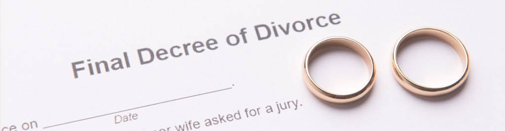 wedding rings on divorce papers