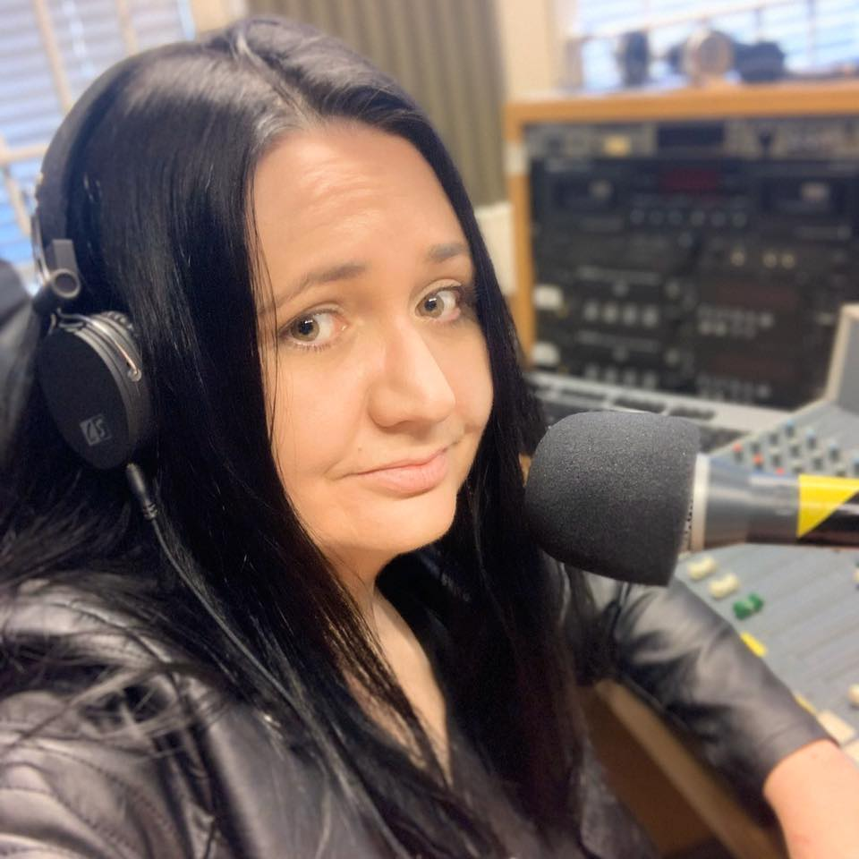 Me in the radio station - my housework Spotify playlist