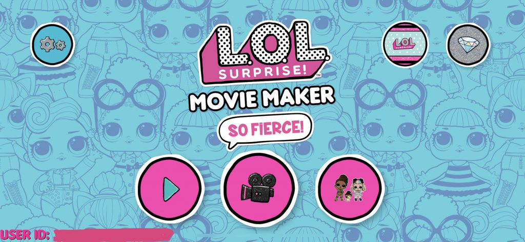 LOL Surprise Movie Maker App Review - Home Screen