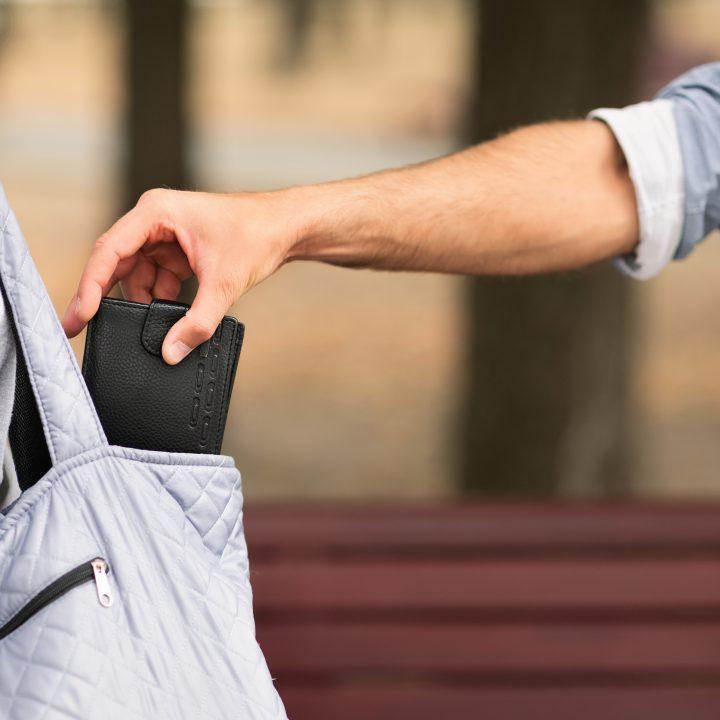 handbag being robbed