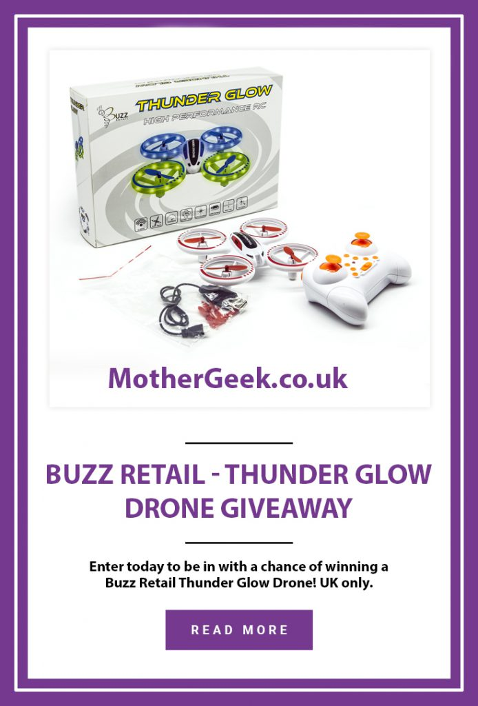 pinterest pin for buzz retail thunder glow drone giveaway