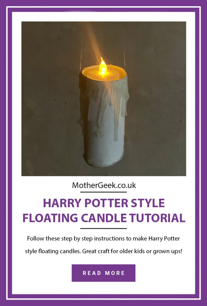 Harry Potter style floating candle tutorial pinterest pin
