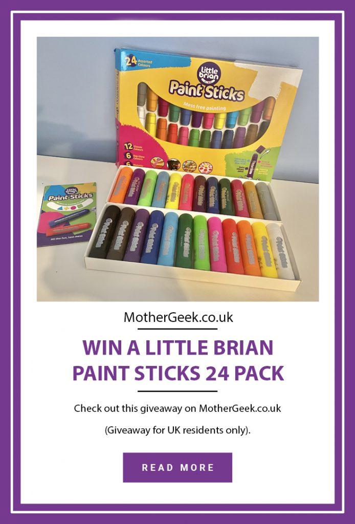 Little Brian Paint Sticks giveaway pinterest pin