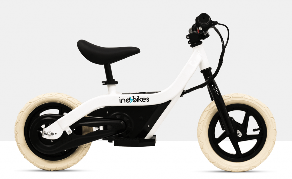 indybikes white electric balance bike